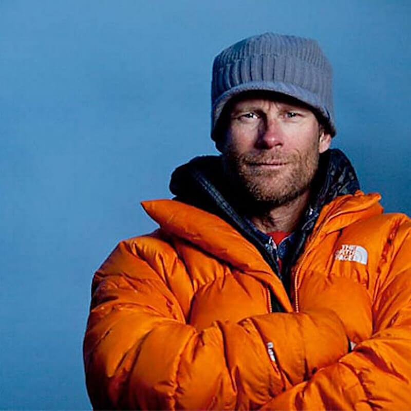 Conrad Anker wearing North Face Jacket