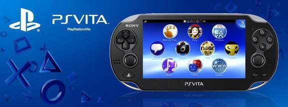 ps vita banner showing the handheld console in front of a blue background