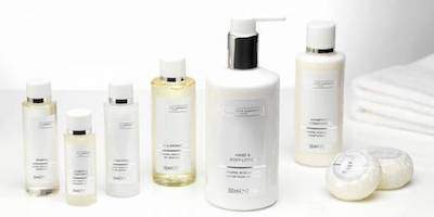 The White Company hand and body lotion and soap line