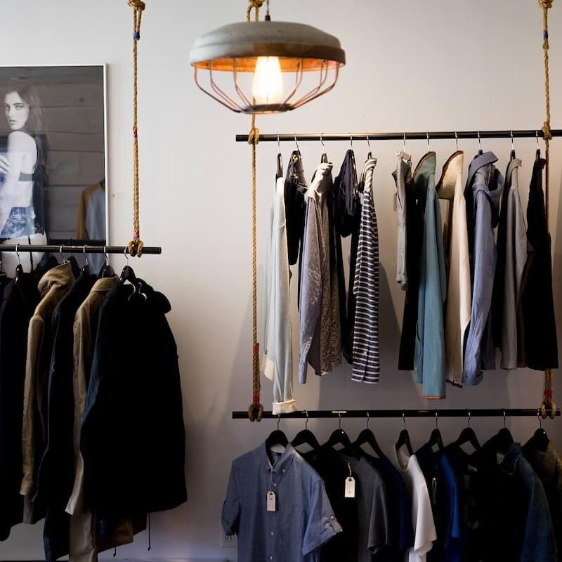 Men's Clothes on hangers