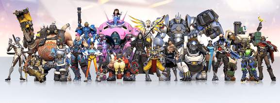 all the characters of the overwatch game
