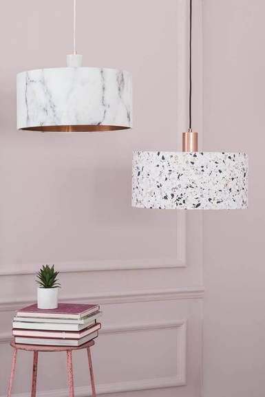 BHS lamp shades designed by Quirk
