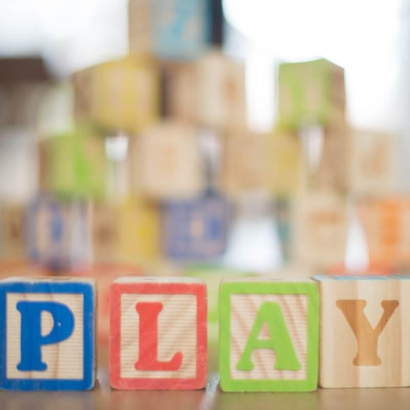 Play blocks for babies on floor