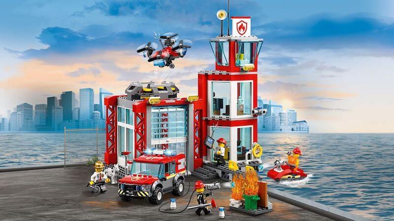 Lego City fire station set