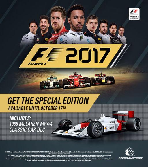 f1 2017 pre order  special edition
