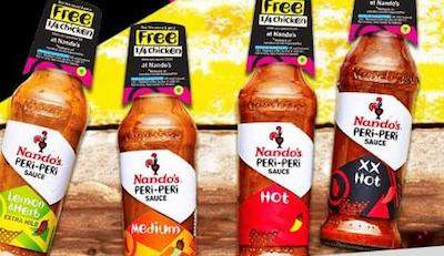 four kinds of nando's peri peri sauce