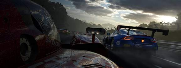 dynamic weather in forza cars racing clouds and sun