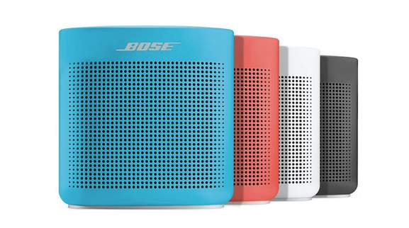 bose soundlink colour four bluetooth speaker in blue, orange, white and black