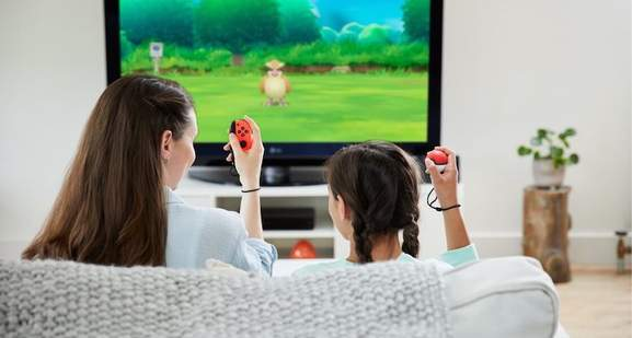 Pokemon: Let's Go with Switch controller and Poke Ball Plus controller