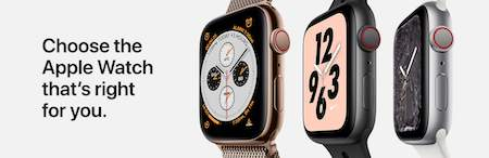 Apple watch banner with three diferent watches choose the apple watch that's right for you