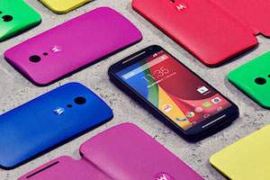 Motorola Mobile phones in different colors