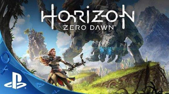 horizon zero dawns female character aloy is fighting a machine
