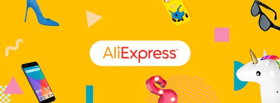 aliexpress banner with different products and products groups