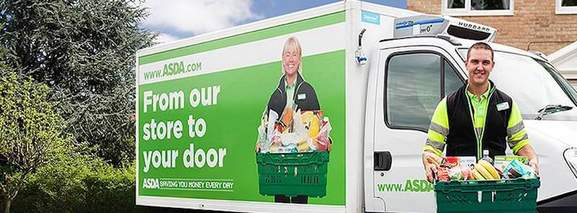 asda guy is delivering food with a van