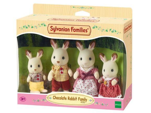 sylvanian chocolate rabbit family