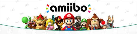 amiibo banner with different nintendo characters