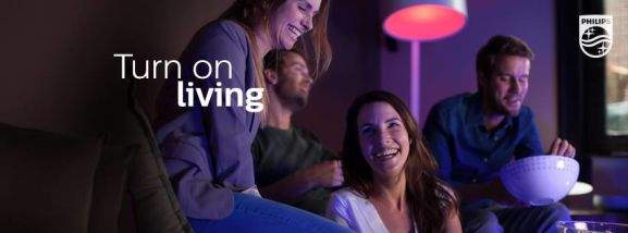 philips turn on living