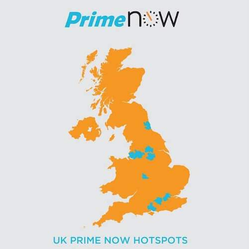 amazon prime now banner showing prime now hotspots