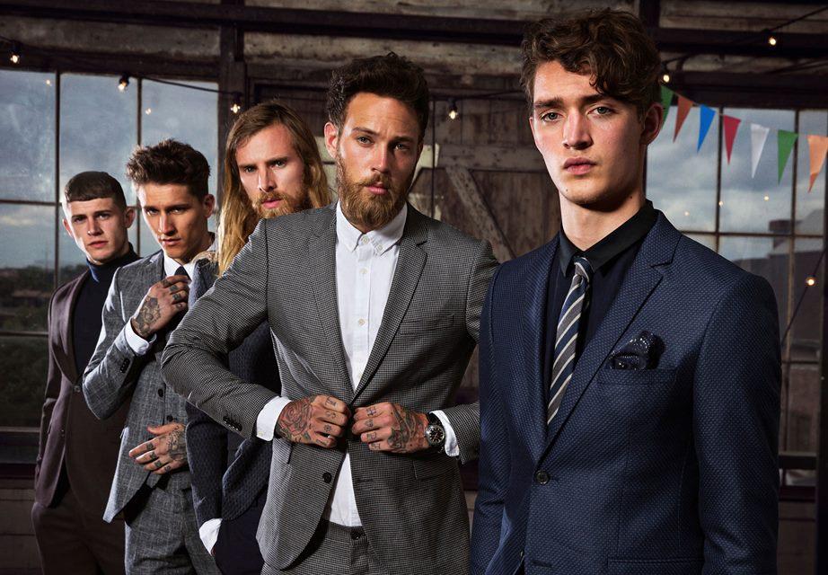 five men wearing clean blazers
