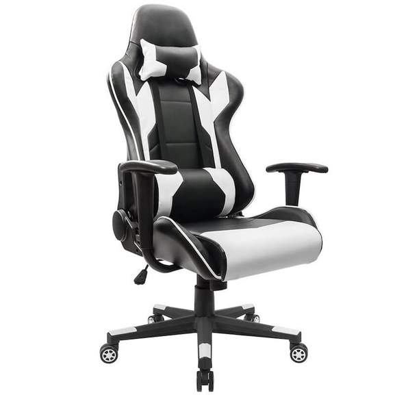 Gaming Chair in white and black