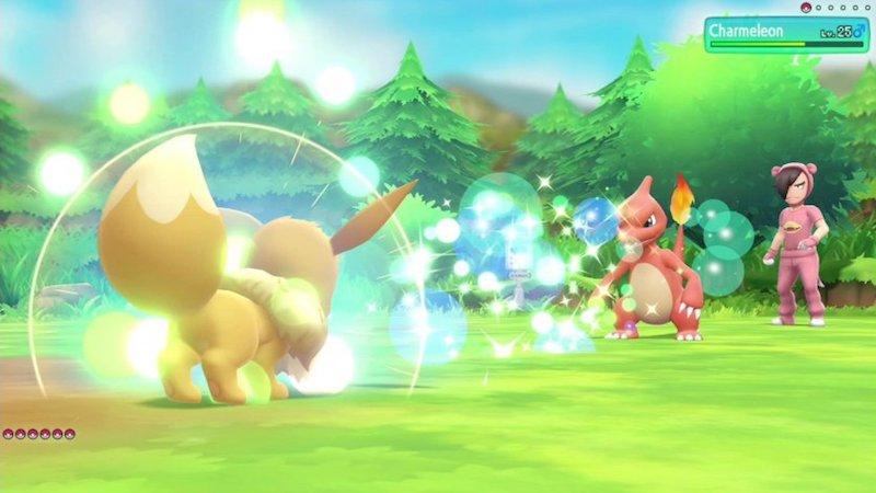 Pokemon Battle between Eevee and Charmeleon