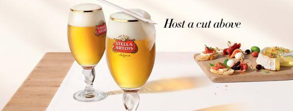 stella artois pilsner beer host a cut above