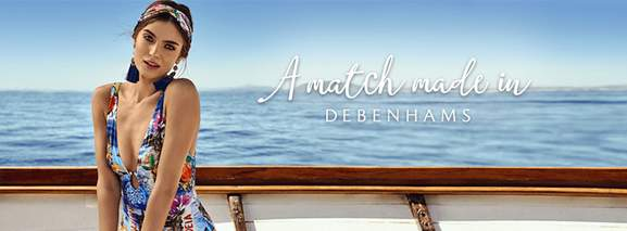 a match made in debenhams woman in bathing suit at the seaside