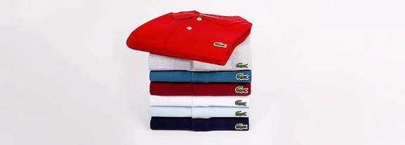 lacoste polo shirts lying upon another