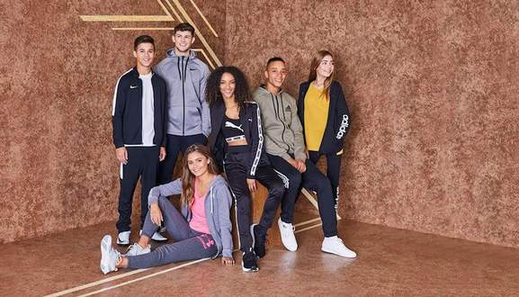 a bunch of people wearing sportswear from sports direct