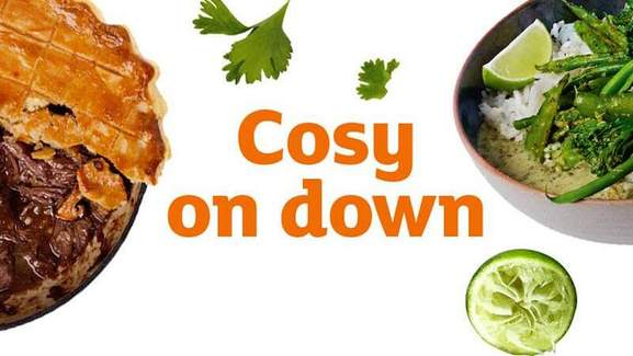 cosy on down with sainsbury's food
