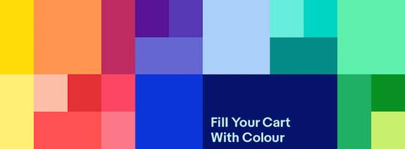 ebay banner foll your cart with colour