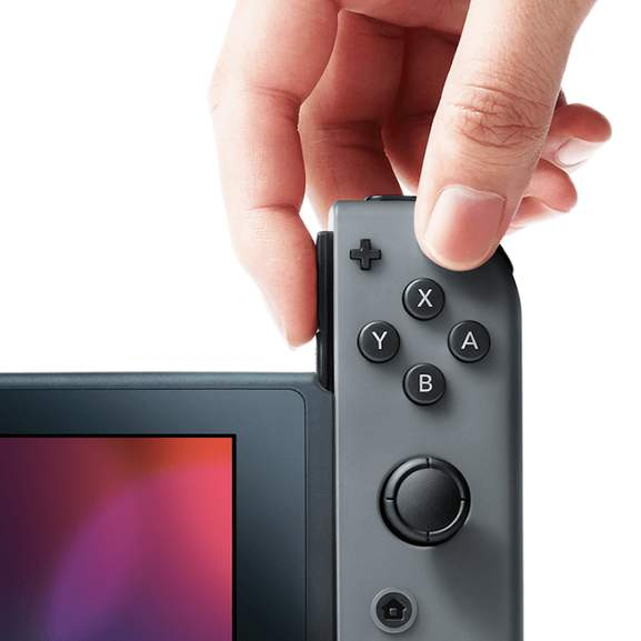 Black Joy-Con connected to Nintendo Switch