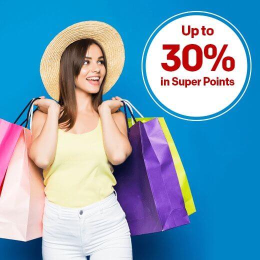 rakuten up to 30% in super points