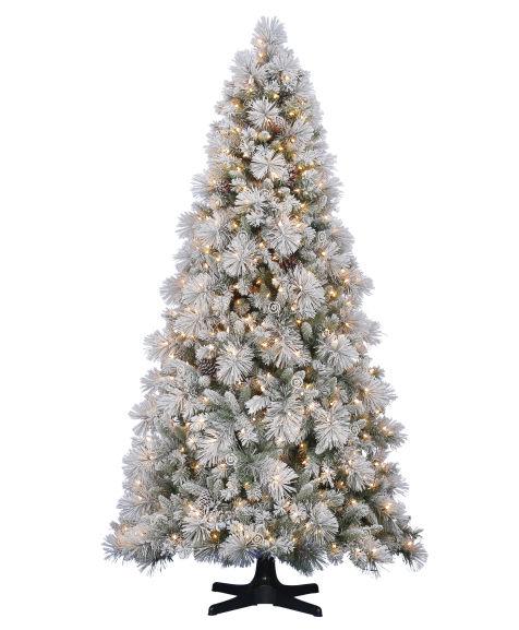 christmas tree artifcial snow