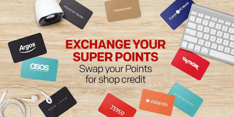 rakuten banner exchange your super points for shop credit
