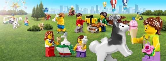 lego figures spending their time in the park