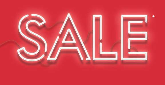 USC sale banner with red background