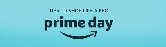 banner with turqouise background saying tips to shop like a pro on prime day