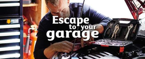 escape to your garage with halfords