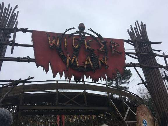 wicker man sign of the ride in alton towers