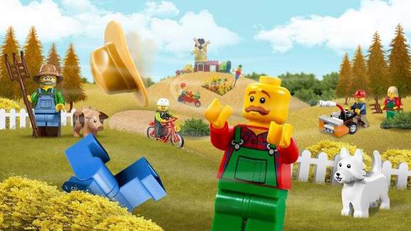 lego figures in a farm setting