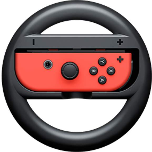 Red Switch Joycon in wheel