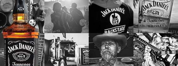 a banner showing the jack daniels lifestyle in different occasions