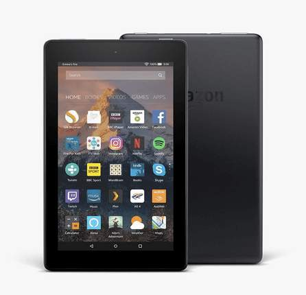 kindle fire tablet in black