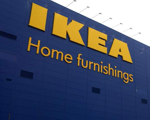 ikea front of a store with home furnishings sign