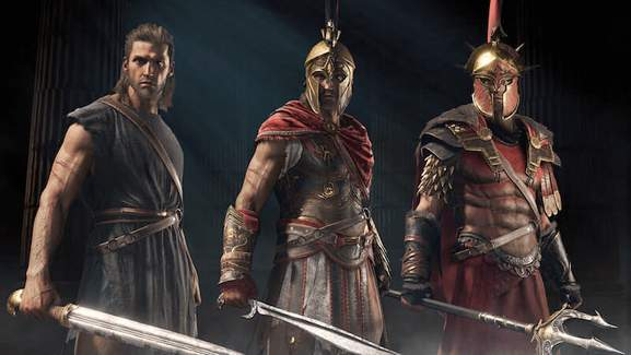 alexios in different stages of arming