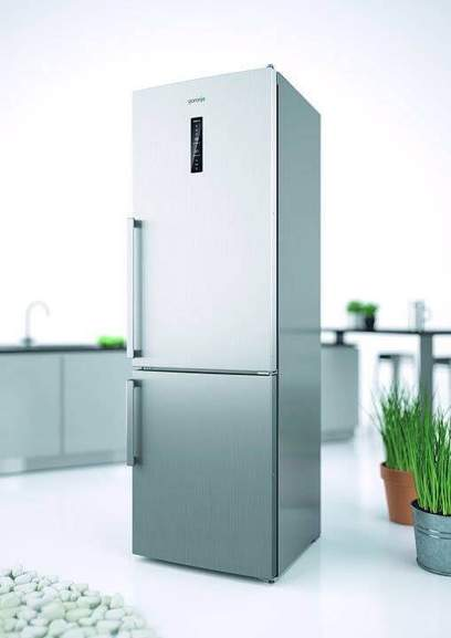 freestanding fridge freezer from gorenje in metal