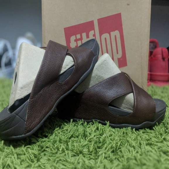 Leather Mens fitflop flipflop