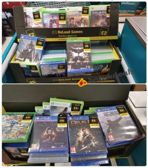 Poundland £5 Xbox One and PS4 Games