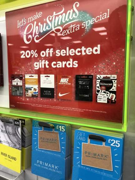 Asda 20 Off Selected Giftcards Includes Nike New Look Restaurant Card Dining Out Card And More Hotukdeals